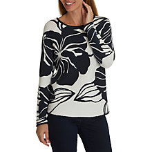 Buy Betty Barclay Floral Print Jumper, Dark Blue/Cream Online at johnlewis.com