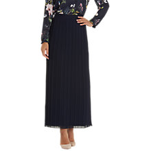 Buy Betty Barclay Pleated Maxi Skirt, Dark Sky Online at johnlewis.com