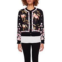 Buy Ted Baker Flisity Peach Blossom Woven Bomber, Black Online at johnlewis.com