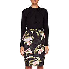 Buy Ted Baker Blayyke Peach Blossom Ruffle Midi Skirt, Black Online at johnlewis.com