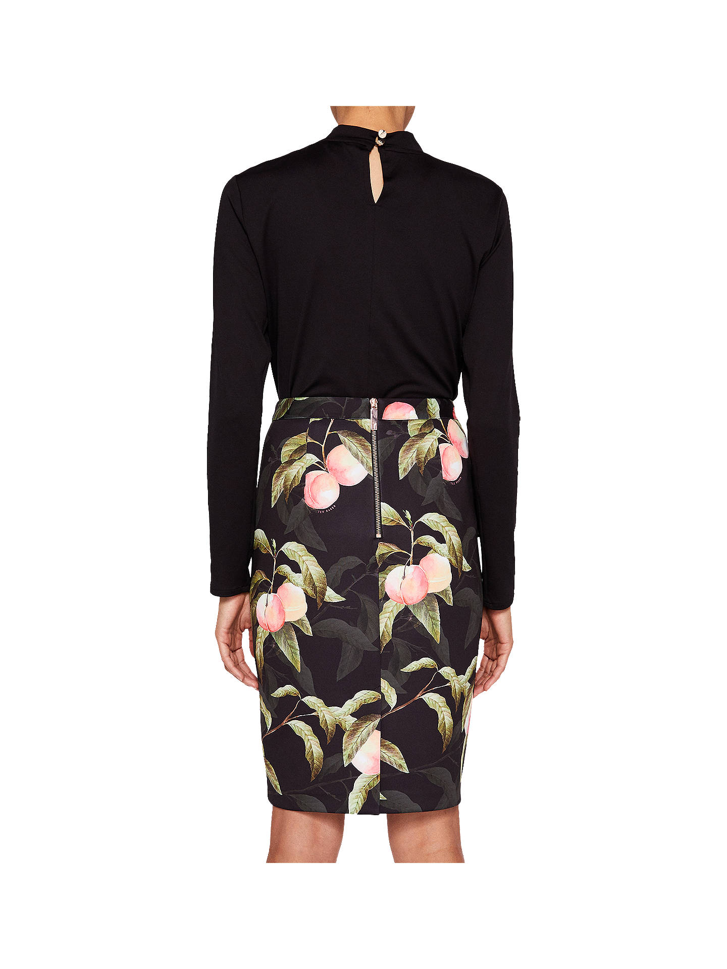 1b714dda82 ... Buy Ted Baker Blayyke Peach Blossom Ruffle Midi Skirt, Black, 0 Online  at johnlewis ...