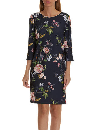 Buy Betty Barclay Floral Print Jersey Dress, Dark Blue/Rose, 10 Online at johnlewis.com