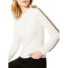 Buy Karen Millen Embellished Jumper, Cream Online at johnlewis.com