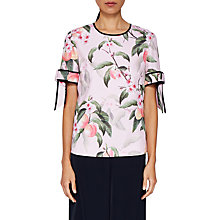 Buy Ted Baker Cathe Peach Blossom Top, Light Pink Online at johnlewis.com