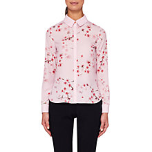 Buy Ted Baker Atterba Blossom Long Sleeve Shirt, Light Pink Online at johnlewis.com