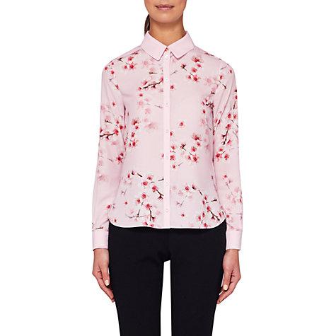 Buy Ted Baker Atterba Blossom Long Sleeve Shirt, Light Pink | John ...