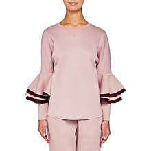 Buy Ted Baker Ted Says Relax Bernae Frill Sleeve Sweater Online at johnlewis.com