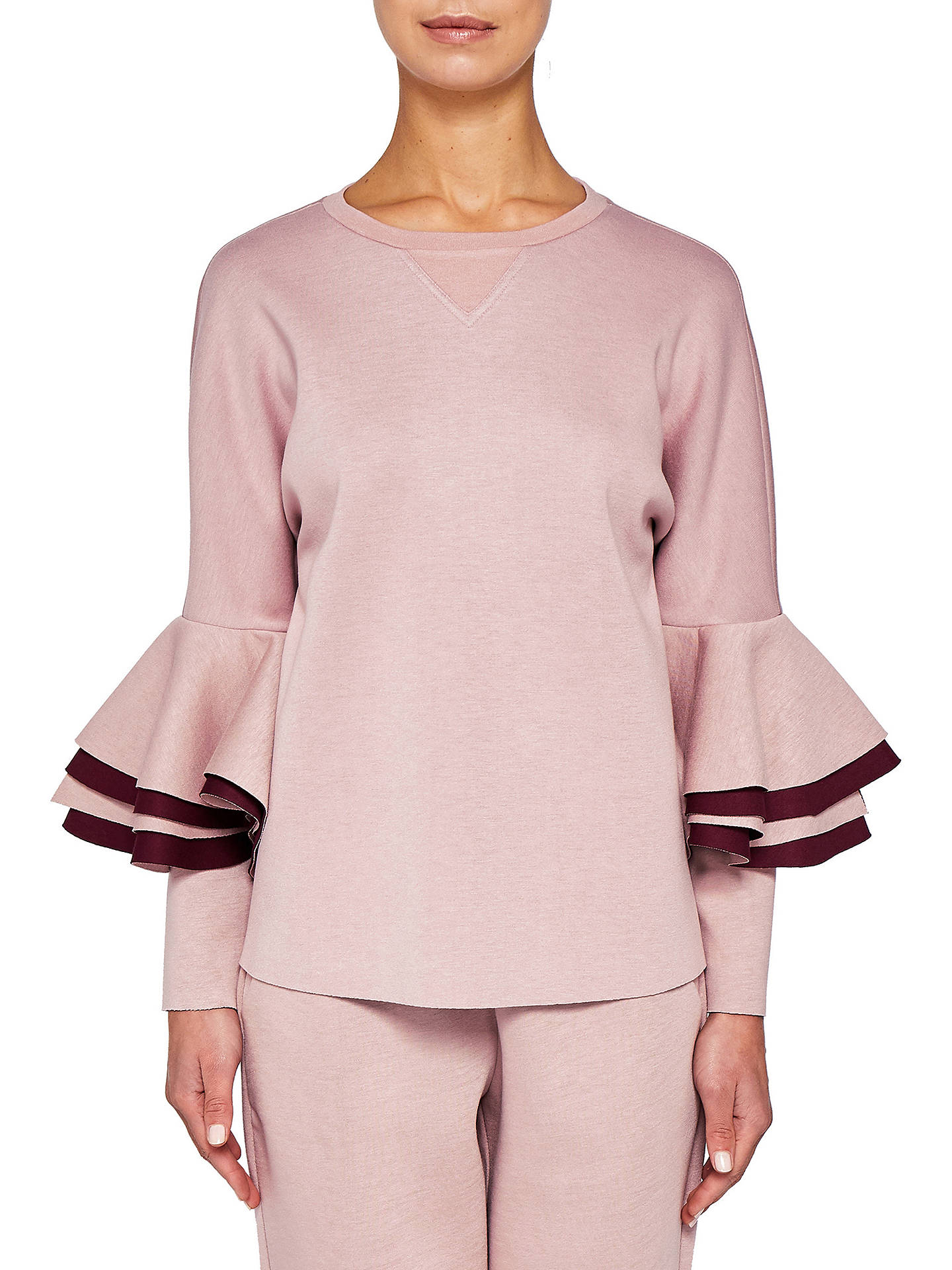 ff5468124 Ted Baker Ted Says Relax Bernae Frill Sleeve Sweater at John Lewis ...