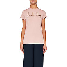 Buy Ted Baker Ted Says Relax Stelta Beauty Sleep Logo T-Shirt, Dusky Pink Online at johnlewis.com