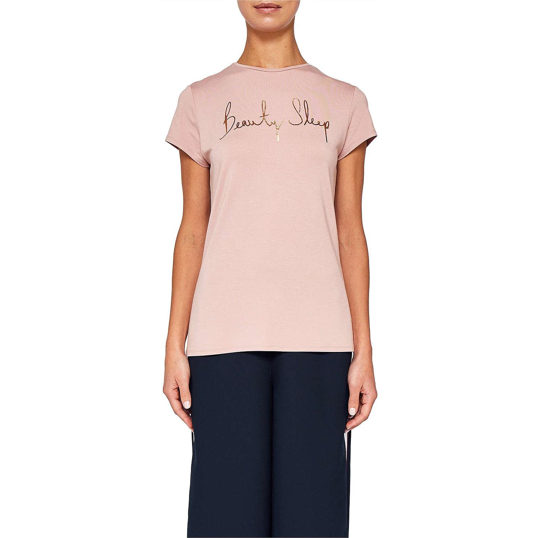 Ted Baker Ted Says Relax Stelta Beauty Sleep Logo T-Shirt, Dusky