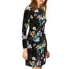 Buy Oasis Fairytale Velvet Dress, Multi/Black Online at johnlewis.com