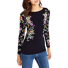 Buy Oasis Illustrator Print Top, Multi/Blue Online at johnlewis.com