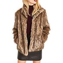 Buy Oasis Faux Fur Coat, Neutral Online at johnlewis.com