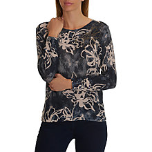 Buy Betty Barclay Embellished Floral Print Jumper, Nature/Dark Blue Online at johnlewis.com