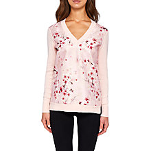 Buy Ted Baker Merisha V-Neck Soft Blossom Jumper, Light Pink Online at johnlewis.com