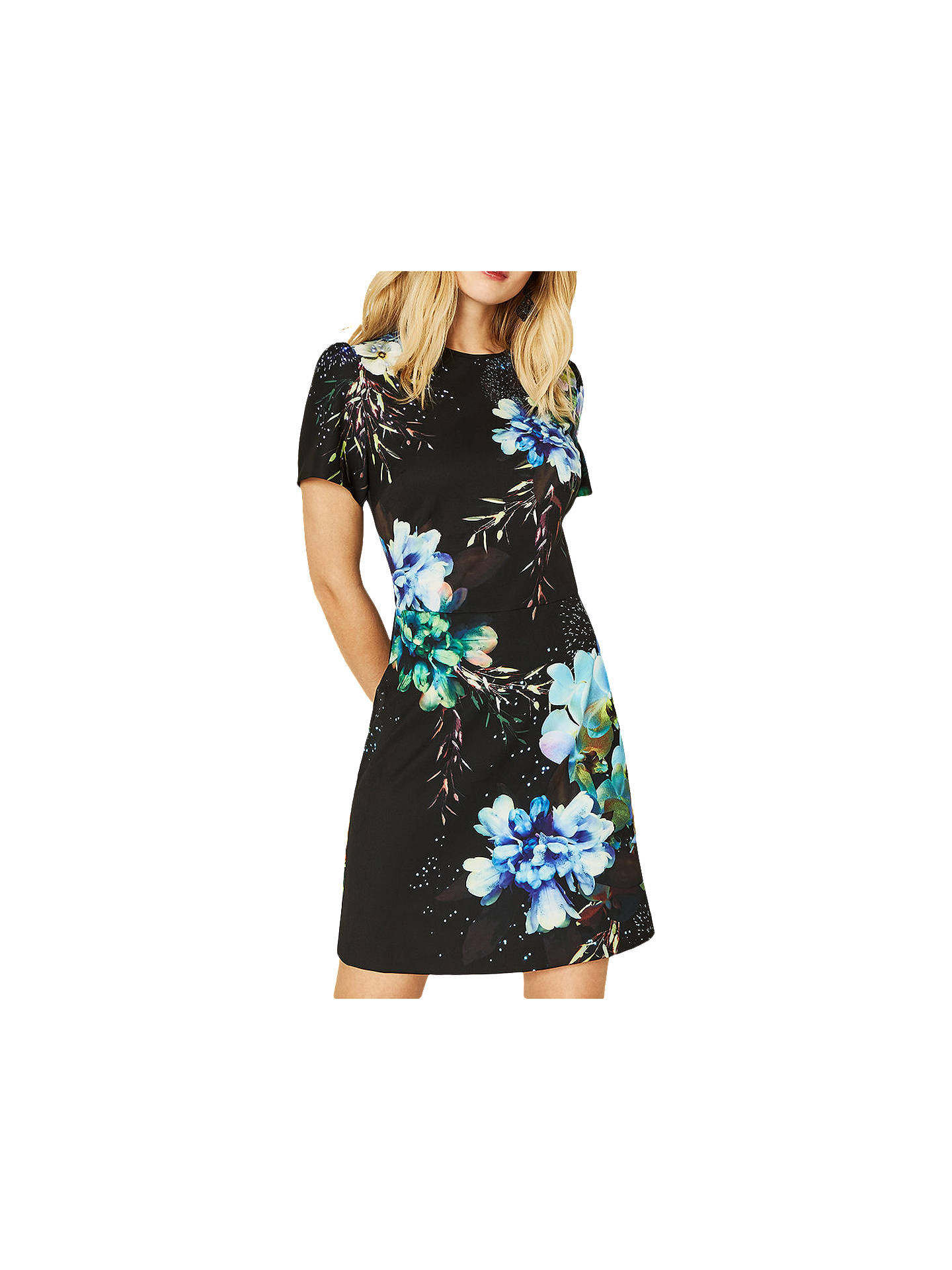 BuyOasis Fairytale Shift Dress, Multi/Black, 6 Online at johnlewis.com
