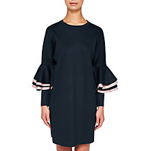 Buy Ted Baker Ted Says Relax Chloae Frill Sleeve Sweater Dress, Navy Online at johnlewis.com