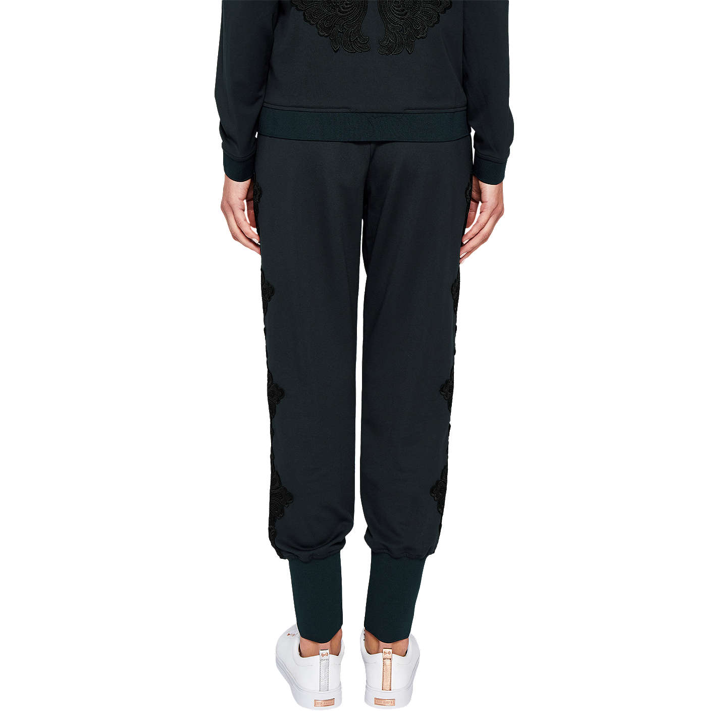 BuyTed Baker Ted Says Relax Lizeeba Lace Trim Joggers, Navy, 0 Online at johnlewis.com
