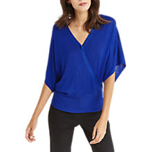 Buy Oasis Lace Back Wrap Jumper, Rich Blue Online at johnlewis.com