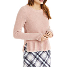 Buy Oasis Chenille Crew Neck Jumper, Powder Pink Online at johnlewis.com