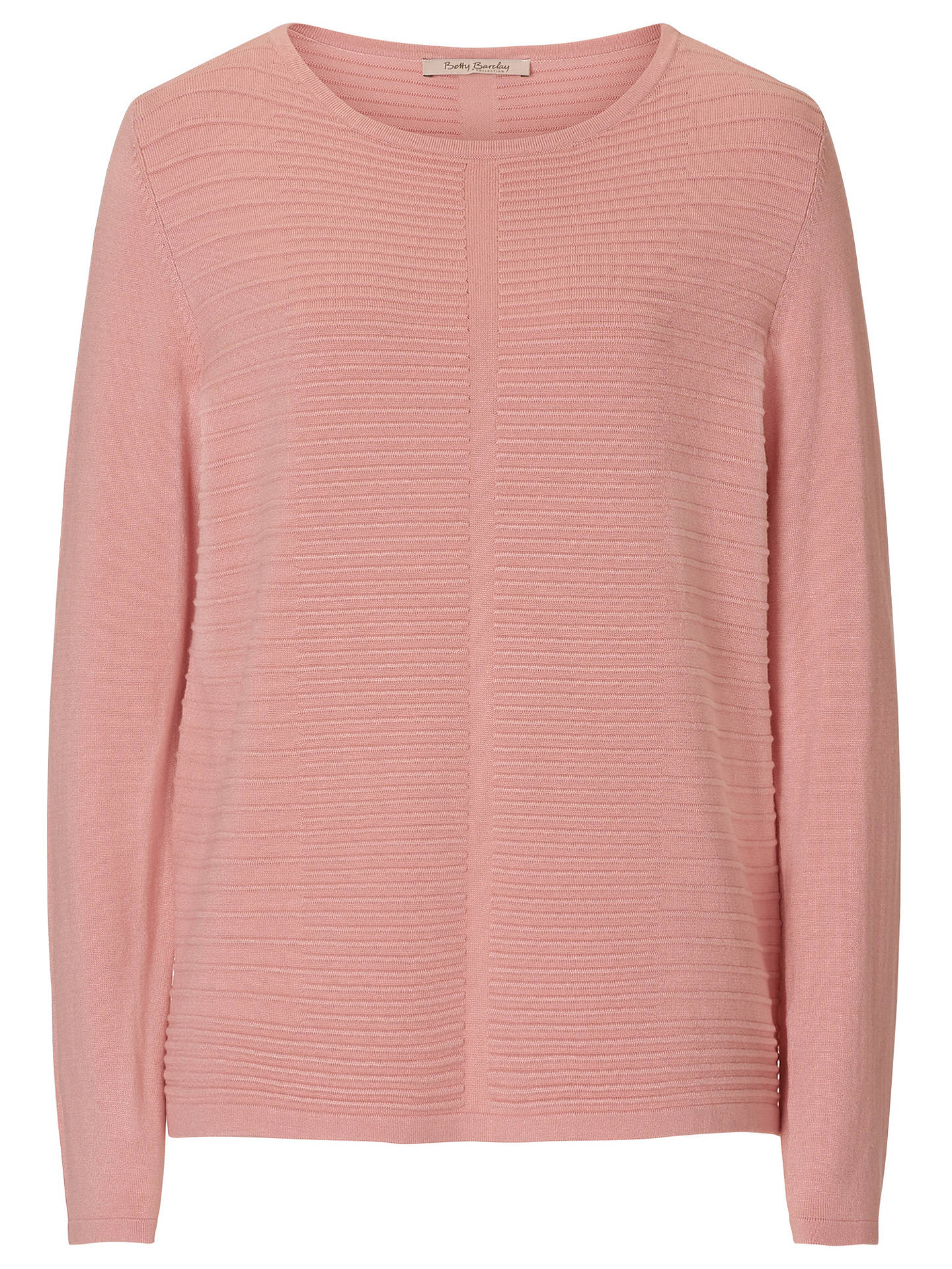 BuyBetty Barclay Ribbed Jumper, Powder Rose, 10 Online at johnlewis.com
