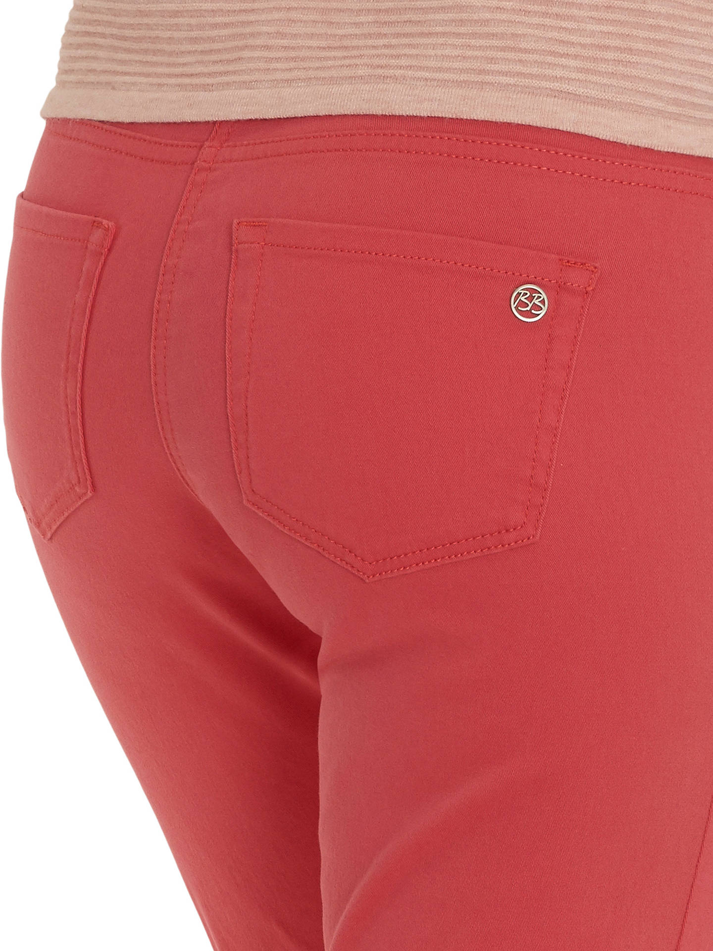 Buy Betty Barclay Slim Fit Jeans, Red Salmon, 8 Online at johnlewis.com
