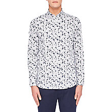 Buy Ted Baker Aqualina Long Sleeve Shirt, White Online at johnlewis.com