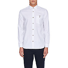Buy Ted Baker Stapal Modern Fit Shirt, White Online at johnlewis.com