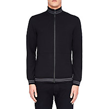 Buy Ted Baker Collie Funnel Neck Full Zip Jumper, Black Online at johnlewis.com