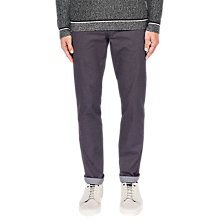 Buy Ted Baker Hollden Textured Slim Fit Chinos, Charcoal Online at johnlewis.com