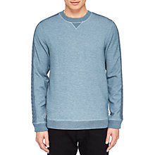 Buy Ted Baker Spanyal Cable Knit Trim Sweatshirt, Mid Blue Online at johnlewis.com