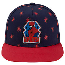 Buy Spiderman Children's Spidey Applique Baseball Cap, Navy/Red Online at johnlewis.com