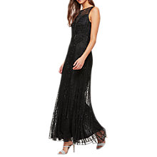 Buy Miss Selfridge Deco Jasmin Maxi Dress, Black Online at johnlewis.com