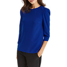 Buy Oasis Mutton Sleeve Top, Rich Blue Online at johnlewis.com