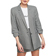Buy Miss Selfridge Petite Dogtooth Check Blazer, Black/White Online at johnlewis.com