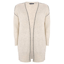Buy Mint Velvet Whip Stitch Cardigan, Neutral Online at johnlewis.com