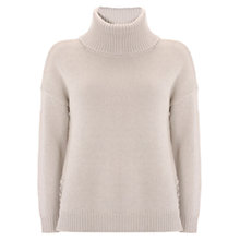 Buy Mint Velvet Lace Up Cowl Neck Knit Jumper Online at johnlewis.com
