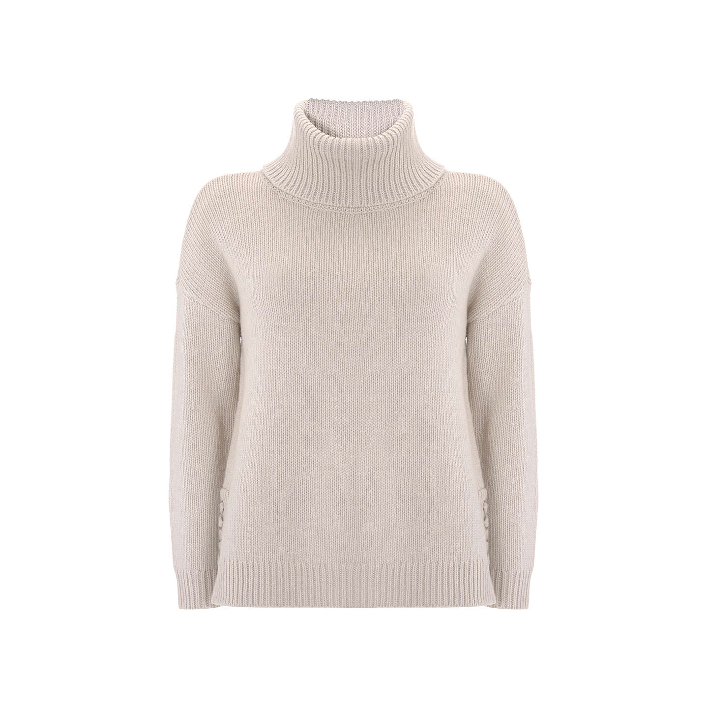 BuyMint Velvet Lace Up Cowl Neck Knit Jumper, Neutral, 8 Online at johnlewis.com