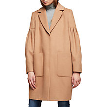 Buy Miss Selfridge Balloon Sleeve Coat, Camel Online at johnlewis.com