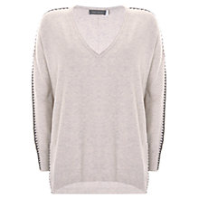 Buy Mint Velvet Whip Stitch Cocoon Knit Jumper, Neutral Online at johnlewis.com
