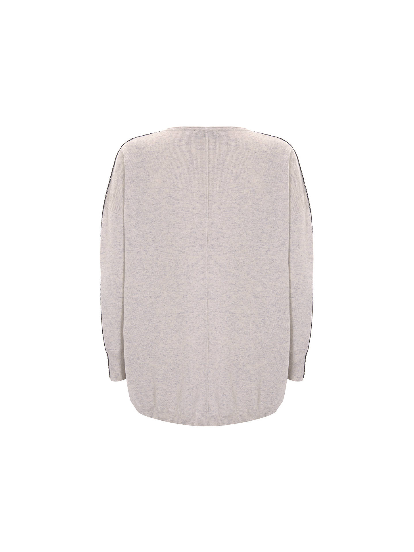 BuyMint Velvet Whip Stitch Cocoon Knit Jumper, Neutrals, XS Online at johnlewis.com