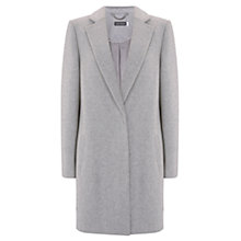 Buy Mint Velvet Luxe Boyfriend Coat, Light Grey Online at johnlewis.com