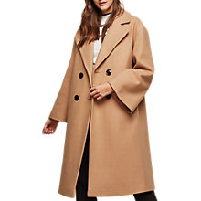 Buy Miss Selfridge Volume Sleeve Coat, Stone Online at johnlewis.com