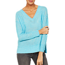 Buy Mint Velvet V-Neck Raw Seam Detail Knit Jumper Online at johnlewis.com