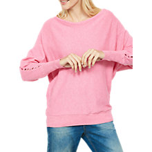 Buy Mint Velvet Cut Out Sleeve Batwing Jumper, Peony Online at johnlewis.com