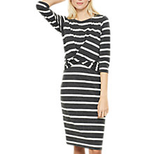 Buy Mint Velvet Wrap Front Jersey Dress, Stripe Online at johnlewis.com