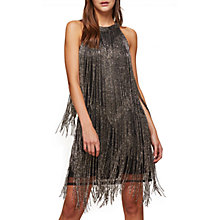 Buy Miss Selfridge Beaded Fringe Dress, Black Online at johnlewis.com