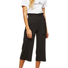 Buy Miss Selfridge Petite Ruffle Top Trousers, Black Online at johnlewis.com