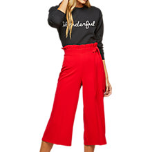 Buy Miss Selfridge Petite Ruffle Top Trousers, Red Online at johnlewis.com