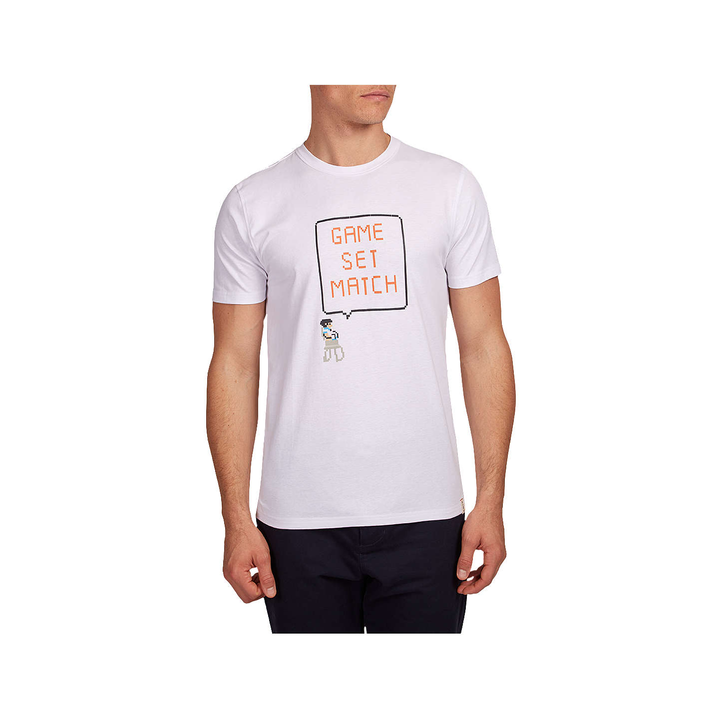 BuyHYMN Game Set Match Short Sleeve Graphic T-Shirt, White, S Online at johnlewis.com